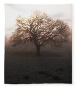 Winter Tree On A Frosty Morning, County Fleece Blanket