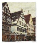 Winterly Old Town Fleece Blanket