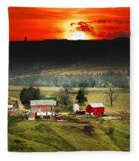 Wisconsin Farm Fleece Blanket