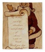 Wishlist For Santa Claus  Fleece Blanket