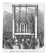 Witches: Execution, 1692 Fleece Blanket