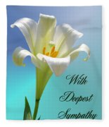 With Deepest Sympathy Fleece Blanket
