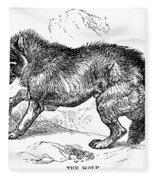 Wolf Attack Fleece Blanket