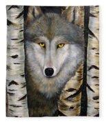 Wolf Beauty Fleece Blanket