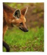 Wolf Strut Fleece Blanket