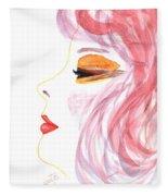 Woman Inner Trust Watercolor Painting Fleece Blanket