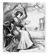 Woman Reading, 1876 Fleece Blanket