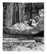 Woman Reading, C1873 Fleece Blanket