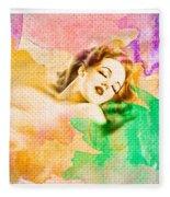 Woman's Soul Part 1 Fleece Blanket