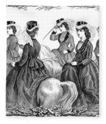 Womens Fashion, 1870 Fleece Blanket