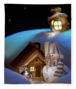 Wonderful Christmas Still Life Fleece Blanket