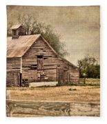 Wood Barn Fleece Blanket