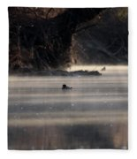 Wood Duck - On The Scenic Sucarnoochee River Fleece Blanket