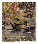 Wood Duck Trio Fleece Blanket