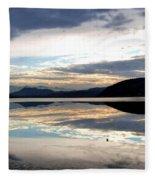 Wood Lake Mirror Image Fleece Blanket