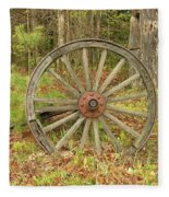 Wood Spoked Wheel Fleece Blanket