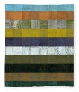 Wooden Abstract L Fleece Blanket