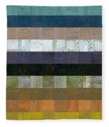 Wooden Abstract Lv Fleece Blanket