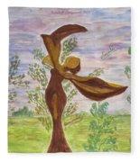 Wooden Femme Fleece Blanket