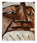 Wooden Head With Cigarette Fleece Blanket