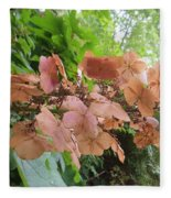 Wooden Hydrangea Fleece Blanket