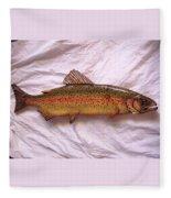 Wooden Rainbow Trout Number Nine Fleece Blanket