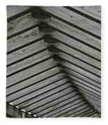 Wooden Ribs Fleece Blanket