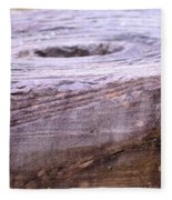 Wooden Ring Abstract Fleece Blanket