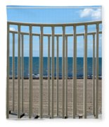 Woodlawn Beach State Park Through Playground Equipment  Fleece Blanket