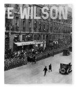 Woodrow Wilson In Paris Fleece Blanket
