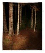Woods At Night Fleece Blanket