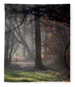Woods - Dirt Road Photo - The Quiet Place Fleece Blanket