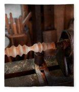 Woodworker - Lathe - Rough Cut Fleece Blanket