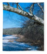 Wordens Pond Winter Fleece Blanket