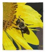 Working Bee Fleece Blanket
