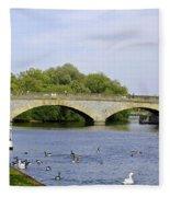 Workman Bridge And The River Avon Fleece Blanket