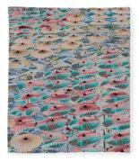 World Of Umbrellas Fleece Blanket
