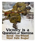 World War I: Poster, 1917 Fleece Blanket