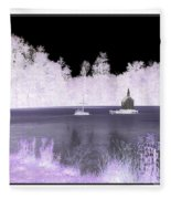 Worlds Smallest Chapel Church Negative Inverted Image Fleece Blanket