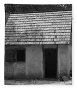 Wormsloe Cottage In Black And White Fleece Blanket