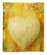 Worn Heart Fleece Blanket