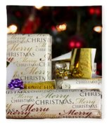 Wrapped Gifts With Tags Fleece Blanket