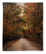 Wrapped In Autumn Fleece Blanket