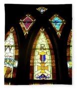 Wrc Stained Glass Window Fleece Blanket