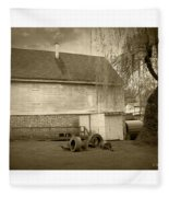 Wye Mill - Sepia Fleece Blanket