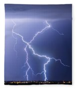 X Lightning Bolt In The Sky Fleece Blanket