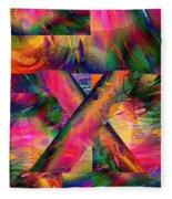X Marks The Spot Fleece Blanket