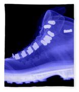 X-ray Of A Hiking Boot Fleece Blanket