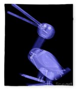 X-ray Of A Wooden Duck Toy Fleece Blanket