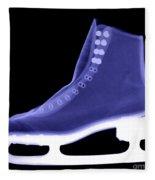 X-ray Of An Ice Skate Fleece Blanket